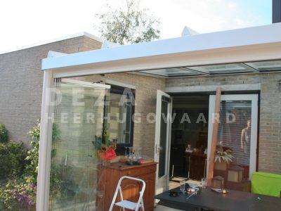 Deza Kozijnen Heerhugowaard - referentie veranda's - terrasoverkapping en glazen schuifwand Alkmaar