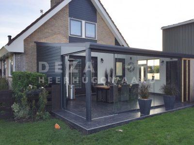 Deza Kozijnen Heerhugowaard - referentie veranda's - terrasoverkapping en glazen schuifwand Obdam